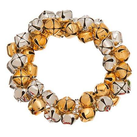 Amazon.com: Purple Box Jewelry Jingle Bell Stretch Bracelet Holiday (Gold): Clothing