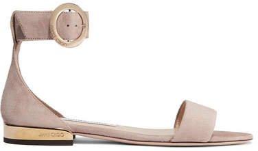 Jamie Suede Sandals - Antique rose