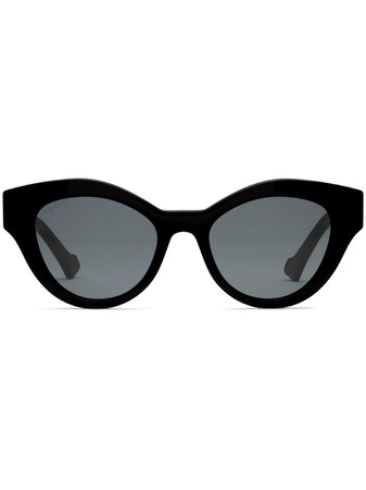 Shop black Gucci Eyewear Double G cat-eye frame sunglasses with Express Delivery - Farfetch