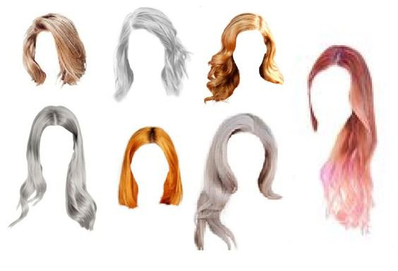 Wigs/Color hair - set of 7