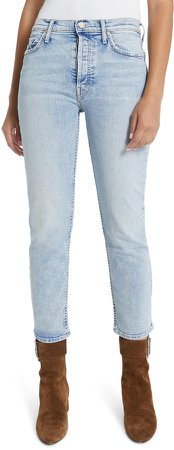 The Tomcat High Waist Button Fly Ankle Jeans