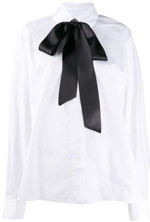 bow neck shirt