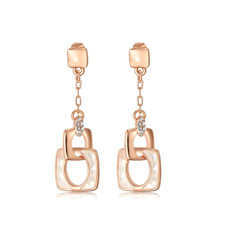 Viennois Fashion Jewelry Rose Gold Color Dangle Earrings Austrian Rhinestone Sea Shell Pieces Earrings for Women Accessories-in Серьги-капельки from Украшения и аксессуары on Aliexpress.com | Alibaba Group