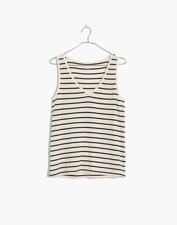 Tomboy V-Neck Tank Top in Stripe