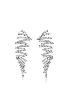 18k White Gold Labyrinth Earrings By Hueb | Moda Operandi