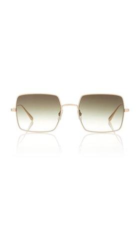 Garrett Leight Crescent Acetate Square-Frame Sunglasses