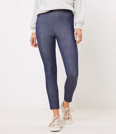Side Zip High Waist Skinny Pants