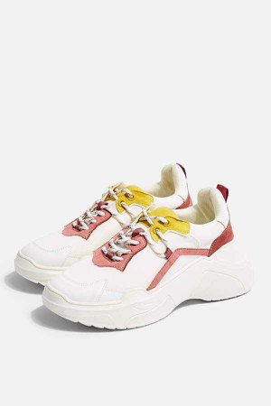 Topshop CHERRY Pink Chunky Trainers
