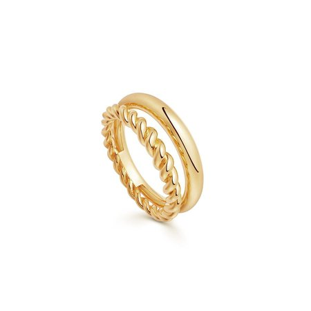 Gold Radial Ring | 18ct Gold Vermeil | Missoma | Missoma Limited