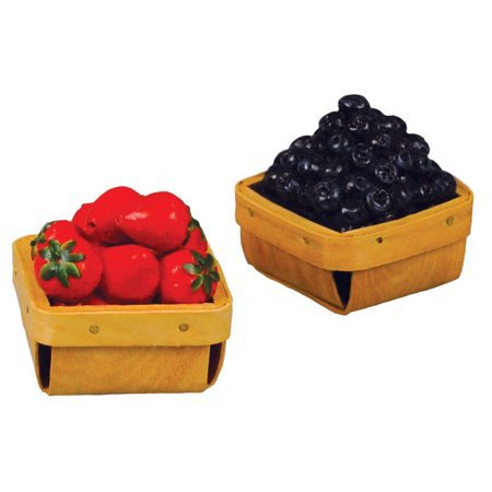18 In Doll Farm Fresh Food Accessory, Strawberries & Blueberries in Pint Baskets - Walmart.com