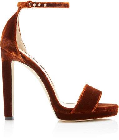 Misty Velvet Sandals