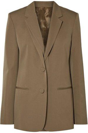 Helmut Lang | Layered wool-twill blazer | NET-A-PORTER.COM