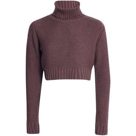 plum purple turtleneck sweater
