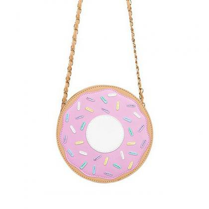 Wholesale 2018 Funny fashion Three-dimensional donuts style messenger bag chain bag soft small harajuku handbag online direct from China Factory - Factory Price Free Shipping.