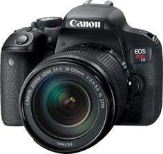 Pinterest (Pin) (7) Canon - EOS Rebel T7i DSLR Camera with 18-135mm IS STM Lens - Black