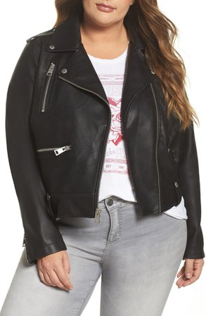 Levi's® Lamb Touch Faux Leather Moto Jacket (Plus Size) | Nordstrom