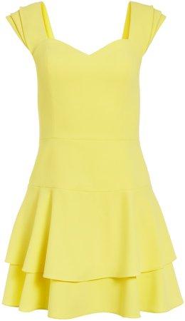 Brinda Pleated Sleeve Mini Dress
