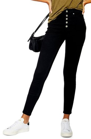Topshop Jamie High Waist Button Fly Jeans   Nordstrom
