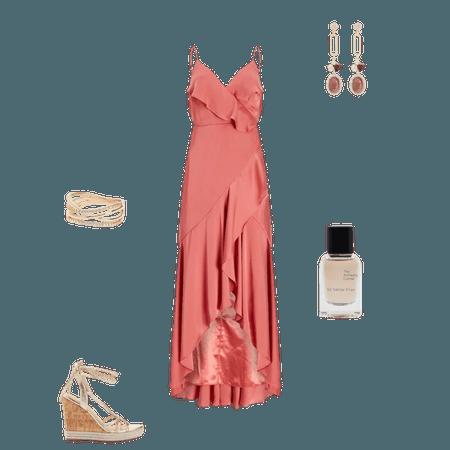 Satin Ruffle Wrap Midi Dress   Express
