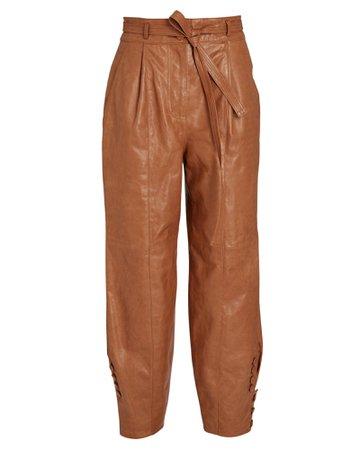 Ulla Johnson Navona Leather Trousers | INTERMIX®