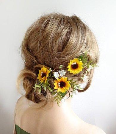 sunflower hair clip - Google Search