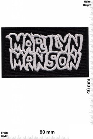 Marilyn Manson Round Blue Patch Badge Embroidered Iron on | Etsy
