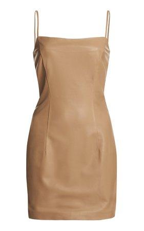 Zeynep Arçay Leather Mini Dress