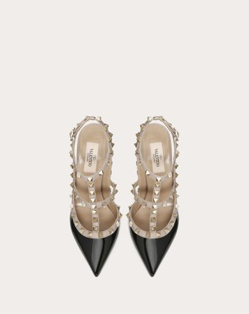 Patent Rockstud Caged Pump 100mm for Woman | Valentino Online Boutique