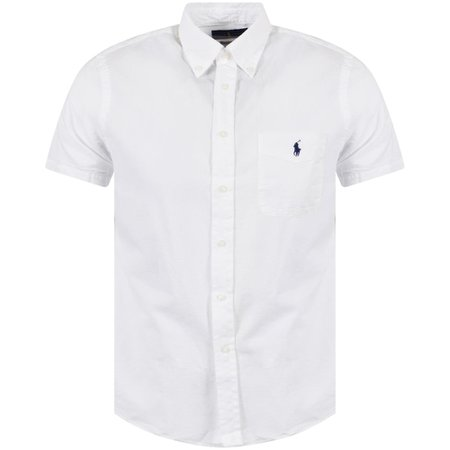 Polo Ralph Lauren White Linen Short Sleeve Shirt