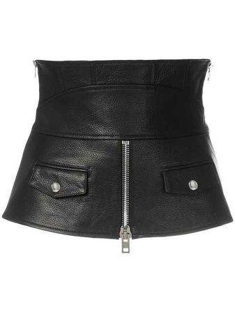 ALEXANDER WANG zipped leather corset