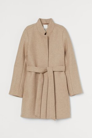 Wool-blend coat - Beige - Ladies | H&M