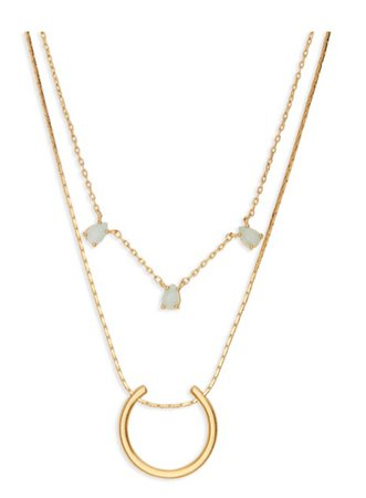 Madewell - Layered Amazonite Necklace