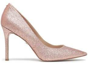 Hazel Glittered Faux Leather Pumps