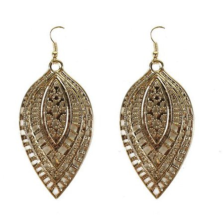 Essentials Earring Gold Leaf Drop Ear - Walmart.com
