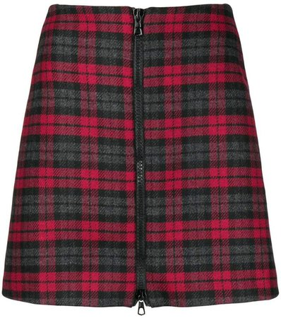 Ultràchic checked zip front skirt