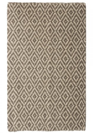 Leicester Natural Wool Loom-Hooked Rug