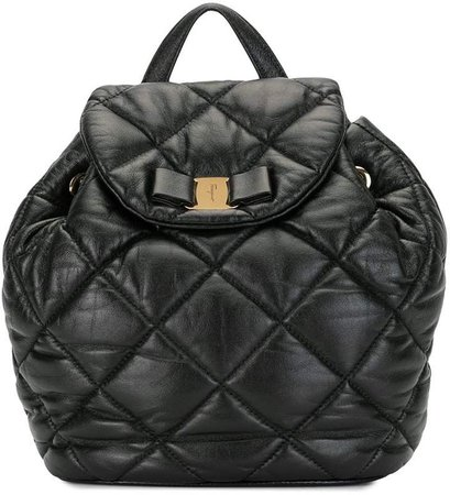 Salvatore Ferragamo Pre Owned Vara bow quilted backpack