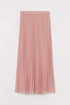 Pleated Maxi Skirt - Pink