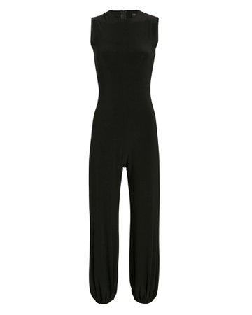 Norma Kamali High Neck Jog Jumpsuit | INTERMIX®