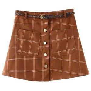 Chicnova Fashion Preppy Style Mini Skirt in Plaid