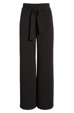 Open Edit Belted High Waist Pants | Nordstrom