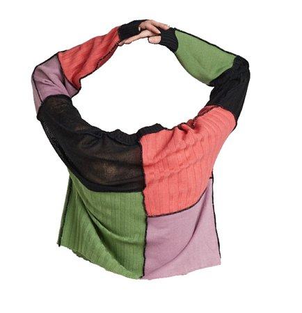 ragged priest | patchwork jumper
