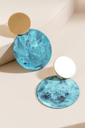 Camille Circle Drop Earrings | francesca's