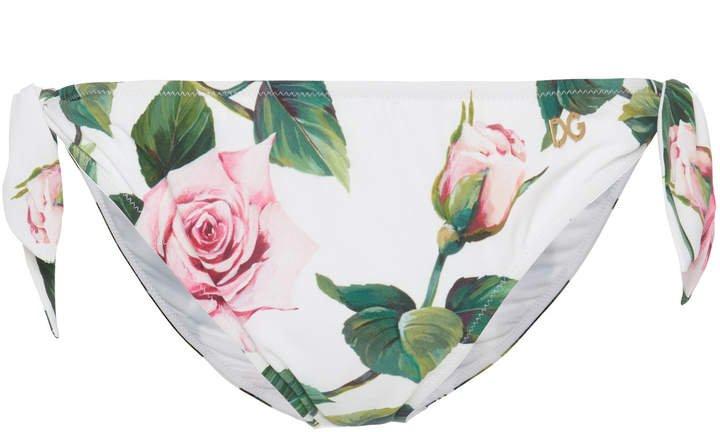 Floral-Print Bikini Briefs