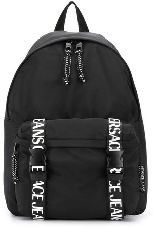 logo strap backpack