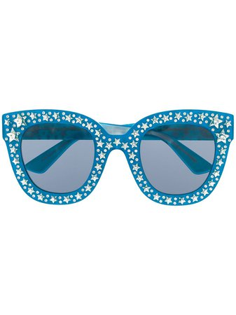 Gucci Eyewear Crystal Embellished Sunglasses - Farfetch