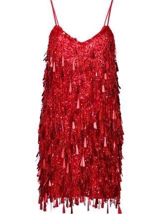 Ashish tasseled backless mini dress