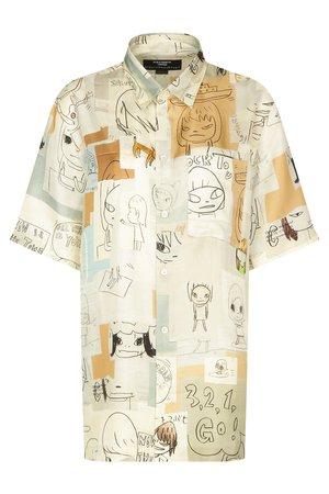 Рубашка из шёлка Stella McCartney Блузы и рубашки Разноцветный на BABOCHKA.RU