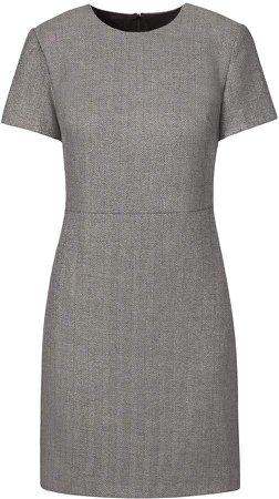 Petite Metallic Herringbone Shift Dress