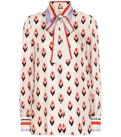 Valentino, Printed silk-twill blouse